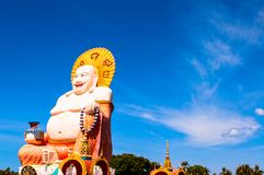 Le Buddha staty i Koh Samui, Thailand Royaltyfri Fotografi
