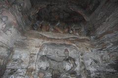 Le Buddhas du monastère de caverne de Yungang de Datong Photos stock