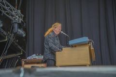 Le burdon d'Éric, Angleterre, notodden le festival de bleus Photos stock
