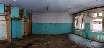 Le bureau dans l'usine abandonnée Photographie stock libre de droits
