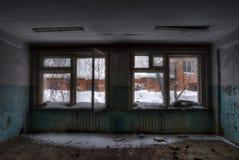 Le bureau dans l'usine abandonnée Image libre de droits