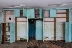 Le bureau dans l'usine abandonnée Image stock