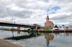Le bureau du vieux maître de port - Dortmund Allemagne photo libre de droits