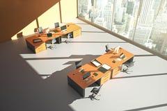Le bureau orange ombrage le dessus Photographie stock libre de droits