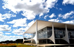 Le bureau présidentiel brésilien Image libre de droits