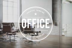 Le bureau siège le concept d'espace de travail de lieu de travail de bâtiment Image stock