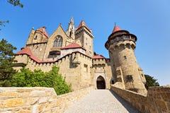 Le Burg Kreuzenstein est un château près de Leobendorf en Basse Autriche, photos libres de droits