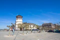 Le Burgplatz près du Rhin à Dusseldorf Photo libre de droits