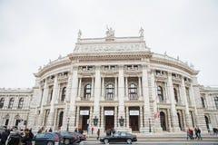 Le Burgtheater à l'origine connu sous le nom de K k Theater un Burg de der, puis jusqu'en 1918 en tant que K k Hofburgtheater, re photos libres de droits