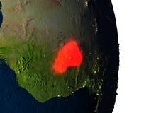 Le Burkina Faso de l'espace pendant le crépuscule Photos libres de droits