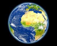 Le Burkina Faso en rouge de l'espace Photographie stock libre de droits