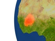 Le Burkina Faso sur le globe illustration de vecteur