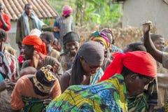 Le Burundi en Afrique Images stock