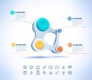 Le businesscircle coloré de vecteur se relient Images libres de droits