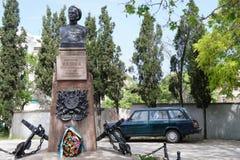Le buste du héros de la défense de Sébastopol Photographie stock