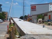 Le câble est resté Katy Trail Pedestrian Bridge Image stock