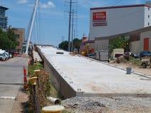 Le câble est resté Katy Trail Pedestrian Bridge Images libres de droits
