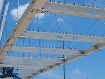 Le câble est resté Katy Trail Pedestrian Bridge Photos stock