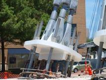 Le câble est resté Katy Trail Pedestrian Bridge Photographie stock libre de droits