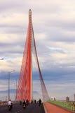 Le câble est resté le pont TranThiLy - Danang-Vietnam Image stock
