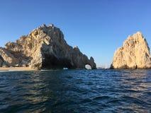 Le ` célèbre d'arc de `, EL Arco dans Cabo San Lucas Images stock