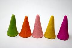 le cône de couleur a uni Image libre de droits