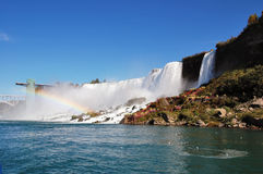 Le côté américain de Niagara Falls Images libres de droits