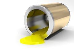 Le côté de la peinture jaune Image libre de droits