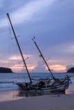 Le côté du bateau, Kata Beach, Phuket Thaïlande Photographie stock
