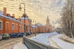 Le côté du nord du lavra d'Alexander Nevsky Image stock