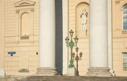 Le côté gauche avant du théâtre de Bolshoy Image stock
