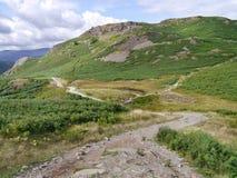 Le côté oriental de Loughrigg est tombé, secteur de lac Photographie stock