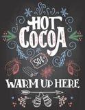 Le cacao chaud se connectent le fond de tableau Images stock