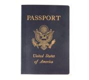 Le cache d'un passeport des USA. Photo stock