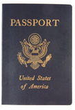 Le cache d'un passeport des USA. Images stock