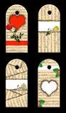 Le cadeau étiquette des roses de whis. Photographie stock libre de droits
