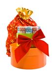 Le cadeau d'an neuf avec de l'argent russe Photo stock