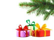 Le cadeau de Noël a enveloppé des présents Photo libre de droits