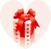 Le cadeau de Valentine Image libre de droits