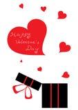 Le cadeau de Valentine Photos stock