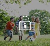 Le cadenas protègent le concept de symbole de sécurité de mot de passe Photo stock