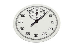Le cadran d'un chronomètre comptant les secondes Photos stock