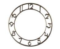 Le cadran de l'horloge sur le blanc Image stock