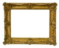Le cadre antique est très vieux avec des fissures et inégal d'isolement sur le fond blanc, avec des chemins de coupure photo libre de droits