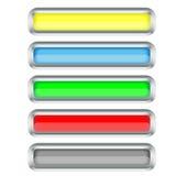 le cadre boutonne le long argent de positionnement illustration de vecteur