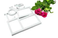 le cadre d'amour, a monté, Saint Valentin de concept Photo stock