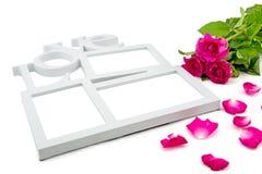 le cadre d'amour, a monté, Saint Valentin de concept Photographie stock