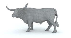 le cadre de fil de taureau du longhorn 3d rendent Photo libre de droits