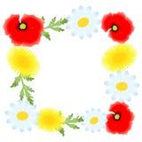 Le cadre de fleurs Images stock