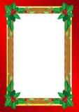 le cadre de fond enferme dans une boîte les bandes d'isolement d'or de cadeau de Noël blanches illustration stock